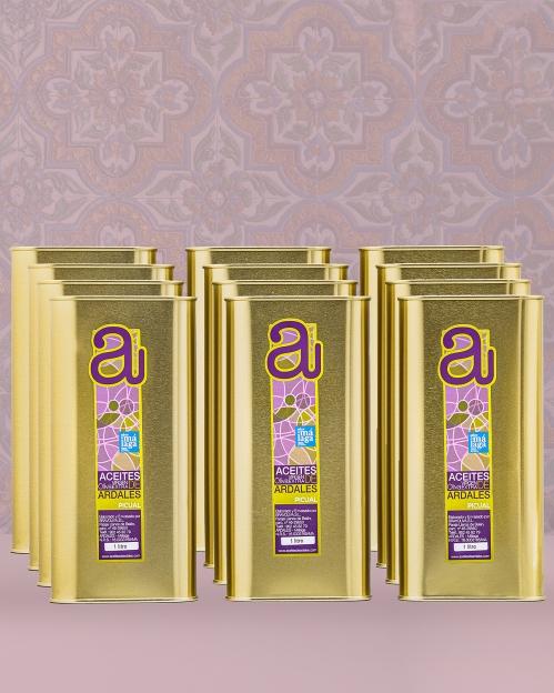 Dėžė (12 vnt. x 1000 ml) PICUAL rūšies alyvuogių aliejaus Virgen Extra