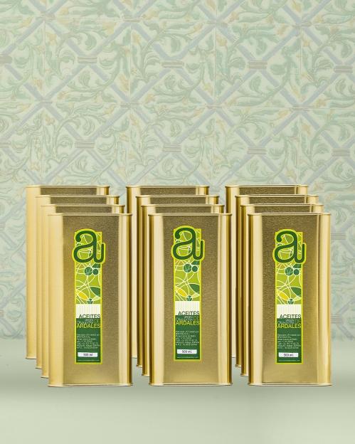Dėžė (12 vnt. x 500 ml) COUPAGE rūšies alyvuogių aliejaus Virgen Extra
