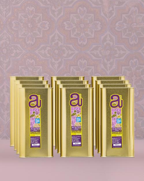 Dėžė (12 vnt. x 500 ml) PICUAL rūšies alyvuogių aliejaus Virgen Extra